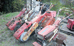 Japanese used second hand tillers cultivators hand tractors kubota farming agricultural supplier export