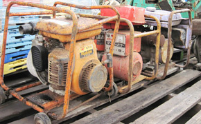 used second hand japanese construction machinery equipment portable water pumps supplier export