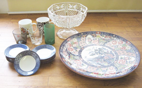 used second hand japanese homeware tableware glassware wholesale supplier togo